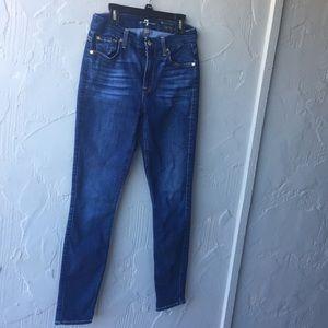 7FAM the high waist skinny jeans size 27